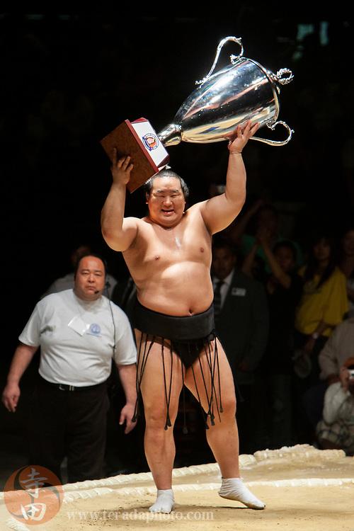 June 8, 2008; Los Angeles, California, USA; 68th Yokozuna sumo wrestler Asashoryu Akinori wins the 2008 Grand Sumo Tournament at the Los Angeles Memorial Sports Arena.