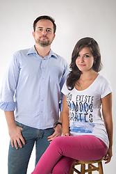 Doutor em filosofia, Fabio Osterman e Giovana Sartori, estudante de medicina e uma das articuladoras do Brasil Livre. FOTO: Jefferson Bernardes/ Agência Preview