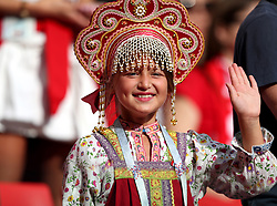 MOSCOW, June 19, 2018  A fan of Poland is seen prior to a Group H match between Poland and Senegal at the 2018 FIFA World Cup in Moscow, Russia, June 19, 2018. (Credit Image: © Ye Pingfan/Xinhua via ZUMA Wire)