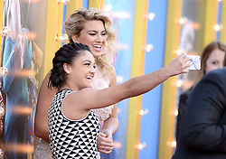 Tori Kelly and Laurie Hernandez attend the premiere of Universal Pictures' 'Sing' on December 3, 2016 in Los Angeles, California. Photo by Lionel Hahn/AbacaUsa.com