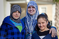 Kathy Zeitoun with her daughters in New Orleans in 2010. She was married to Abdulrahman Zeitoun whose Post-Katrina nightmare of indefinite detention was chronicled by writer Dave Eggers in the book 'Zeitoun' in 2009. Her now ex-husban is in legal trouble for assaulting her.
