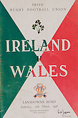 Rugby 10/03/1956 Five Nations Ireland Vs Wales