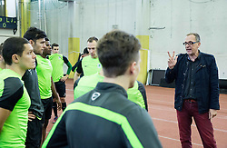 Srdjan Djordjevic during first training of NK Olimpija Ljubljana before spring season when presented Olimpija's new coach, on January 11, 2016 in ZAK stadium, Ljubljana, Slovenia. Photo by Vid Ponikvar / Sportida