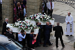 June 15, 2017 - South Shields, Tyne and Wear, United Kingdom - The joint funeral of Manchester Arena bomb victims Chloe Rutherford and Liam Curry at St Hilda's Church, South Shields. (Credit Image: © Tom Banks/i-Images via ZUMA Press)
