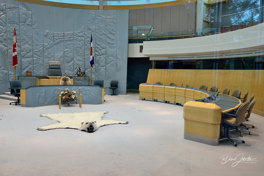 Legislative Assembly of the Northwest Territories Governement chambers, Yellowknife, Northwest Territories, Canada
