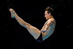 Tom Daley of Great Britain in action during a warm up - Mandatory byline: Rogan Thomson/JMP - 11/05/2016 - DIVING - London Aquatics Centre - Stratford, London, England - LEN European Aquatics Championships 2016 Day 3.