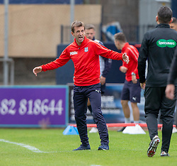 Dundee's manager Neil McCann. Dundee 1 v 3 Motherwell, SPFL Ladbrokes Premiership game played 1/9/2018 at Dundee's Kilmac stadium Dens Park