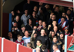 23 April 2017 - EFL Championship Football - Aston Villa v Birmingham City - Aston Villa fans sing toward Birmingham City fans from the safety of a concourse - Photo: Paul Roberts / Offside