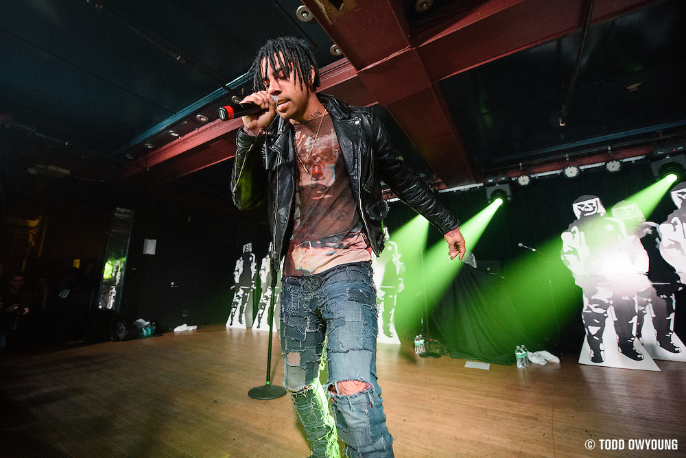 Vic Mensa photographed performing at Webster Hall in New York City on June 5, 2016.