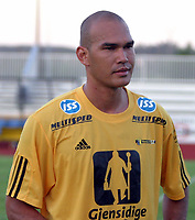 Fotball,11.august 2004,førstedivisjon,Raufoss Stadion,Raufoss-Sandefjord  (1-0)<br /> <br /> Hamilton Thorp,Raufoss.<br /> <br /> Foto:Dagfinn Limoseth,Digitalsport