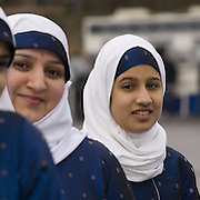 Young muslim women  wearing hijab,  from Ulfah collective<br />