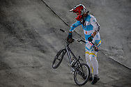 #194 (VILLEGAS Federico) ARG at Round 2 of the 2018 UCI BMX Superscross World Cup in Saint-Quentin-En-Yvelines, France.