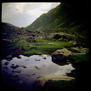 Landscape of a trek in Vishansar Valley, Himalaya Mountains Kashmir India.