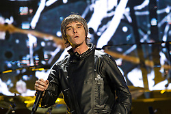 © Licensed to London News Pictures . FILE PICTURE DATED 30/06/2012 . Manchester, UK. The Stone Roses are to headline at the 2013 Isle of Wight Festival organisers have announced today (26th November 2012). Pictured: The Stone Roses, fronted by Ian Brown , perform at Heaton Park in Manchester , for their Second Coming event in June 2012 . Photo credit : Joel Goodman/LNP