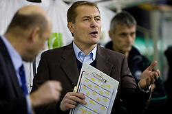Head coach of Olimpija Hannu Jarvenpaa at ice-hockey match in 33rd Round of EBEL league between HDD Tilia Olimpija Ljubljana and EC KAC, Klagenfurt, on December 18, 2009, in Arena Tivoli, Ljubljana, Slovenia. Olimpija defeated KAC 4:2. (Photo by Vid Ponikvar / Sportida)
