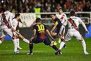 Leo Messi during the League match: Rayo Vallecano vs Bar?ßa