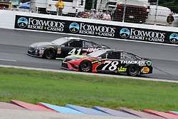 July 22, 2018 - Loudon, NH, U.S. - LOUDON, NH - JULY 22: (78) Martin Truex Jr. and (41) Kurt Busch in turn 4 during the Monster Energy Cup Series Foxwoods Resort Casino 301 race on July, 21, 2018, at New Hampshire Motor Speedway in Loudon, NH. (Photo by Malcolm Hope/Icon Sportswire) (Credit Image: © Malcolm Hope/Icon SMI via ZUMA Press)