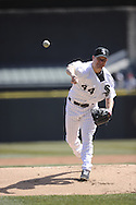 CHICAGO - APRIL 03:  Jake Peavy #44 of the Chicago White Sox pitches against the Kansas City Royals on April 3, 2013 at U.S. Cellular Field in Chicago, Illinois.  The White Sox defeated the Royals 5-2.  (Photo by Ron Vesely)   Subject: Jake Peavy