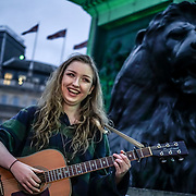 Ireland upcoming star Etaoin Rowe performs lives at the London's St Patrick's Day 2017 in Trafalgar Square on 19th March 2017. by See Li