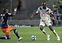 Fotball Frankrike Foto: Dppi/Digitalsport NORWAY ONLY FOOTBALL - FRENCH CHAMPIONSHIP 2010/2011 <br />  MONTPELLIER HSC v GIRONDINS DE BORDEAUX  - 08/08/2010 -<br /> - ALOU DIARRA (BDX)
