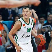 Panathinaikos's Sarunas Jasikevicius during their Euroleague Final Four semifinal Game 1 basketball match CSKA Moscow's between Panathinaikos at the Sinan Erdem Arena in Istanbul at Turkey on Friday, May, 11, 2012. Photo by TURKPIX
