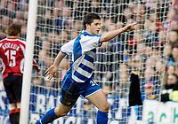 Photo: Gareth Davies.<br />Reading v Sheffield United. The Barclays Premiership. 20/01/2007.<br />Reading striker Shane Long celebrates scoring his first Premiership goal.