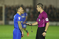 AFC Wimbledon defender George Francomb (7) during the The Emirates FA Cup 1st Round Replay match between AFC Wimbledon and Bury at the Cherry Red Records Stadium, Kingston, England on 15 November 2016. Photo by Stuart Butcher.