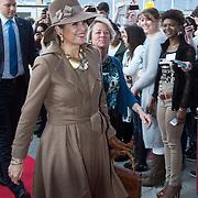 NLD/Nieuwegein//20140327 - Koningin Máxima bij viering 10 jaar ROC Midden Nederland,