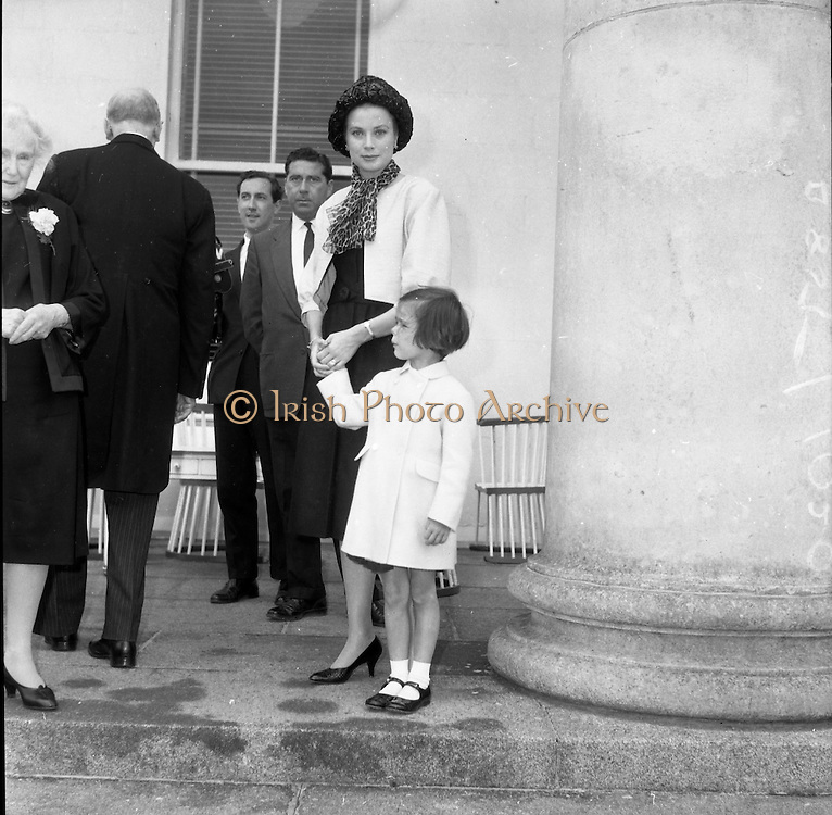 Princess Grace and Prince Rainier of Monaco, with their children Caroline and Albert, visit President Eamon de Valera and his wife Sinead at Áras an Uachtarain..14.06.1961