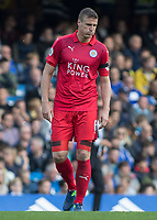 Football - 2016/2017 Premier League - Chelsea V Leicester.<br /> <br /> Robert Huth of Leicester City at Stamford Bridge.<br /> <br /> COLORSPORT/DANIEL BEARHAM