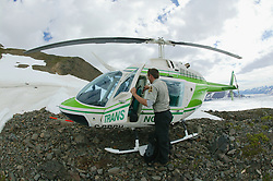 Scott With Helicopter