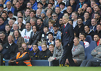 Football - 2016 / 2017 Premier League - Tottenham Hotspur vs. Arsenal<br /> <br /> Arsenal Manager Arsene Wenger looks on as Tottenham fans laugh at him at White Hart Lane.<br /> <br /> COLORSPORT/ANDREW COWIE
