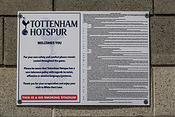 A general view of signage at Tottenham Hotspur's White Hart Lane, London. PRESS ASSOCIATION Photo. Picture date: Thursday May 11 2017. Photo credit should read: Steven Paston/PA Wire