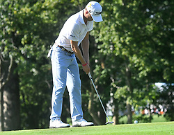 August 9, 2018 - St. Louis, Missouri, U.S. - ST. LOUIS, MO - AUGUST 09: Justin Thomas putts on the #10 green during the first round of the PGA Championship on August 09, 2018, at Bellerive Country Club, St. Louis, MO.  (Photo by Keith Gillett/Icon Sportswire) (Credit Image: © Keith Gillett/Icon SMI via ZUMA Press)