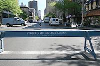 Police line, Midtown Manhattan, New York, USA
