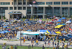 Sep 11, 2021; Morgantown, West Virginia, USA; West Virginia Mountaineers fans tailgate before their game against the Long Island Sharks at Mountaineer Field at Milan Puskar Stadium. Mandatory Credit: Ben Queen-USA TODAY Sports