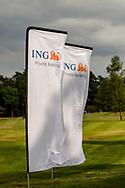01-09-2016 Golffoto's van het Nationaal Open op de Hilversumsche Golf Club in Hilversum. Finale.  ING Private Banking Vlaggen