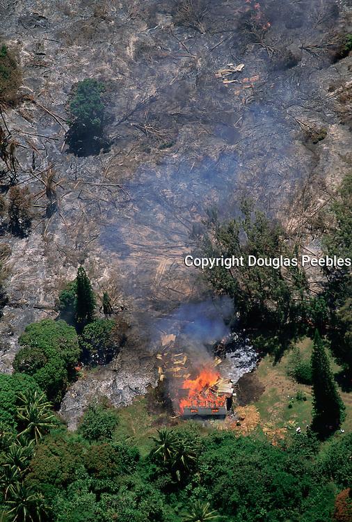 Lava flow through homes, Kalapana, May 1990, Island of Hawaii<br />