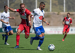 Josef Moussa (HIK) under træningskampen mellem FC Helsingør og HIK den 1. august 2020 på Helsingør Ny Stadion (Foto: Claus Birch).