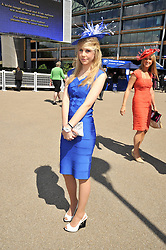 INDIA JAMES grandaughter of the late Paul Raymond and JILLY JAMES at at the first day of the 2009 Royal Ascot racing festival on 16th June 2009.