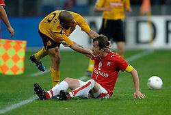 09-05-2007 VOETBAL: PLAY OFF: UTRECHT - RODA: UTRECHT<br /> In de play-off-confrontatie tussen FC Utrecht en Roda JC om een plek in de UEFA Cup is nog niets beslist. De eerste wedstrijd tussen beide in Utrecht eindigde in 0-0 / Admil Ramzi en Gregoor van Dijk<br /> ©2007-WWW.FOTOHOOGENDOORN.NL