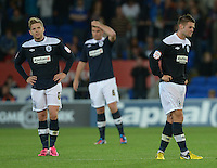 Huddersfield Town's Adam Clayton and Oliver Norwood look dejected after Cardiff City score in the dying moments of the game ..Football - npower Football League Championship - Cardiff City v Huddersfield Town - Friday 17th August 2012 - Cardiff City Stadium - Cardiff..