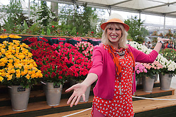 © Licensed to London News Pictures. 20/05/2013. London, England. Joanna Lumley at the Marks & Spencer stand. Celebrities at Press Day Monday of the RHS Chelsea Flower Show. Photo credit: Bettina Strenske/LNP
