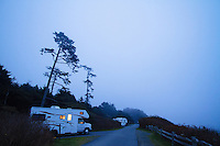 Kalaloch Campground in Olympic National Park, WA