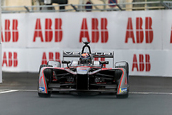 April 28, 2018 - Paris, Ile-de-France, France - Switzerland's Edoardo Mortara of the Formula E team Venturi competes during the practice session of the French stage of the Formula E championship around The Invalides Monument close to The Eiffel Tower in Paris on April 28, 2018. (Credit Image: © Michel Stoupak/NurPhoto via ZUMA Press)