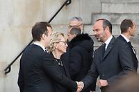 Claude Chirac_Edouard  Philippe_Martin Chirac  Obsèques de Jacques Chirac Lundi 30 Septembre 2019 église Saint Sulpice Paris
