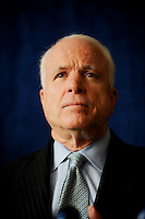 Presidential hopeful Sen. John McCain talks to the media during an availability in Sacramento, Thursday Nov. 15, 2007.
