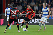 Ben Pearson (22) of AFC Bournemouth battles for possession during the EFL Sky Bet Championship match between Bournemouth and Queens Park Rangers at the Vitality Stadium, Bournemouth, England on 14 September 2021.
