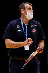 Bristol Flyers head coach Andreas Kapoulas - Photo mandatory by-line: Robbie Stephenson/JMP - 13/12/2020 - BASKETBALL - Ponds Forge Sports Centre - Sheffield, England - Sheffield Sharks v Bristol Flyers - British Basketball League Championship