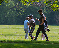 people in stratford upon avon  out in the park not following government advice to stay photo by Mark Anton Smith